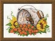 Bucket Mouse - Design Works Crafts Cross Stitch Kit