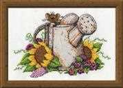 Watering Can Mouse - Design Works Crafts Cross Stitch Kit