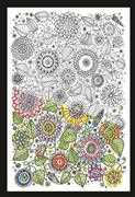 Zenbroidery Printed Fabric - Floral - Design Works Crafts Embroidery Fabric