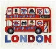 London Bus - DMC Cross Stitch Kit
