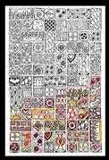 Zenbroidery Printed Fabric - Cubist - Design Works Crafts Embroidery Fabric