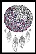 Zenbroidery Printed Fabric - Dreamcatcher - Design Works Crafts Embroidery Fabric
