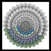 Design Works Crafts Zenbroidery Printed Fabric - Mandala Embroidery
