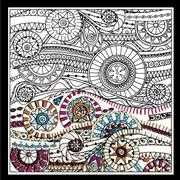 Design Works Crafts Zenbroidery Printed Fabric - Waves Embroidery