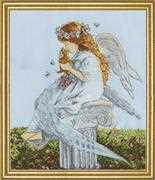 Angel with Kitten - Design Works Crafts Cross Stitch Kit