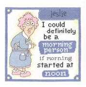 Morning Person - Janlynn Cross Stitch Kit