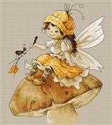 Luca-S Toadstool Fairy Cross Stitch Kit
