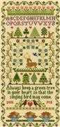 Bothy Threads Green Tree Sampler Cross Stitch Kit