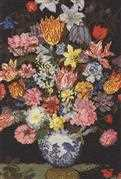 Bosschaert - A Still Life of Flowers - DMC Cross Stitch Kit