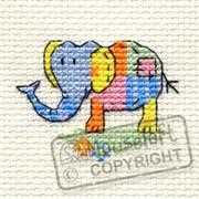 Mouseloft Patchwork Elephant Cross Stitch Kit