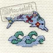 Floral Dolphin - Mouseloft Cross Stitch Kit
