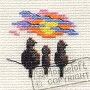 Mouseloft Sunset Birds Cross Stitch Kit