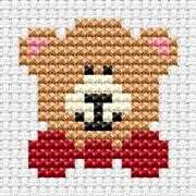 Easy Peasy Teddy - Fat Cat Cross Stitch Kit