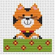 Sew Simple Cat - Fat Cat Cross Stitch Kit