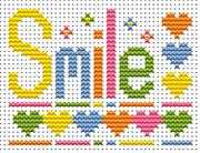 Sew Simple Smile Word - Fat Cat Cross Stitch Kit