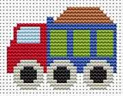 Sew Simple Truck - Fat Cat Cross Stitch Kit