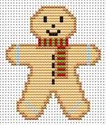 Sew Simple Gingerbread Man - Fat Cat Cross Stitch Kit