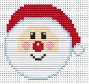 Fat Cat Sew Simple Santa Cross Stitch Kit