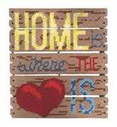 Home is Where the Heart Is - Janlynn Cross Stitch Kit