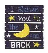 Janlynn Love You To The Moon Cross Stitch Kit
