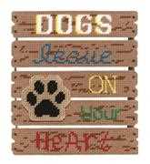 Dogs Leave Paw Prints - Janlynn Cross Stitch Kit