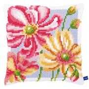 Colourful Floral Cushion - Vervaco Cross Stitch Kit