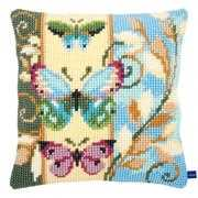 Deco Butterflies Cushion - Vervaco Cross Stitch Kit
