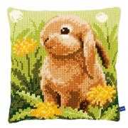 Little Hare Cushion - Vervaco Cross Stitch Kit
