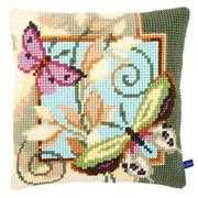 Deco Butterfly Cushion - Vervaco Cross Stitch Kit