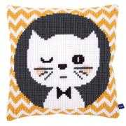 Winking Cat Cushion - Vervaco Cross Stitch Kit
