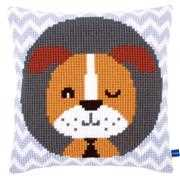 Winking Dog Cushion - Vervaco Cross Stitch Kit