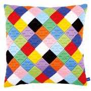 Coloured Diamonds Cushion - Vervaco Long Stitch Kit