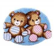 Teddy Bears Rug - Vervaco Latch Hook Kit