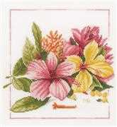 Lanarte Amaryllis Bouquet Cross Stitch Kit