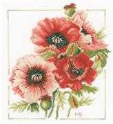 Lanarte Anemone Bouquet Cross Stitch Kit