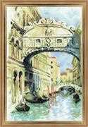 RIOLIS Venice Bridge of Sighs Cross Stitch Kit