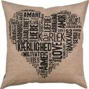 Permin Love Pillow - Black Cross Stitch Kit
