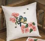 Bluetit Cushion - Permin Cross Stitch Kit