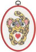 Leopard - Permin Cross Stitch Kit