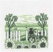 Bicycle and Cat - Permin Cross Stitch Kit