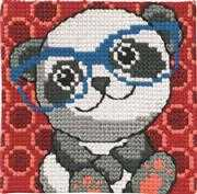 Panda in Glasses - Permin Cross Stitch Kit