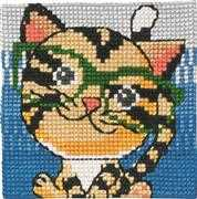 Tiger in Glasses - Permin Cross Stitch Kit