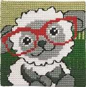 Permin Lamb in Glasses Cross Stitch Kit