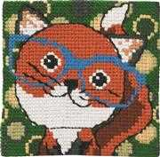 Permin Fox in Glasses Cross Stitch Kit