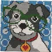 Dog in Glasses - Permin Cross Stitch Kit