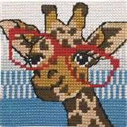 Giraffe in Glasses - Permin Cross Stitch Kit