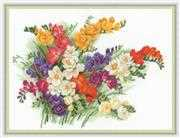 RIOLIS Freesias Cross Stitch Kit
