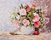 Pastel Arrangement - Grafitec Tapestry Canvas