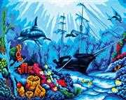 Underwater World - Grafitec Tapestry Canvas