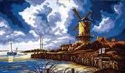 Stormy Windmill - Grafitec Tapestry Canvas